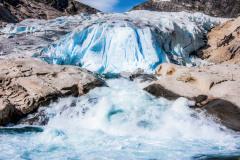 Gletscher-Kaskaden